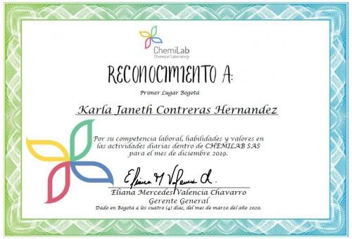 Reconocimiento Karla Janeth Contreras Hernandez